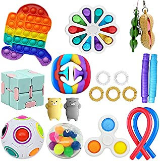 Jawhock 21 Pack Sensory Fidget Toys Set, Stress Relief and Anxiety Reduction for Kids, Perfect for Brithday Party Favors, ...