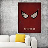 XWArtpic Classic Superhero Logo Hollywood Movie Cartoon Spider Iron Bat Poster...