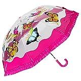 VON LILIENFELD® Paraguas Infantil Niños Niñas Mariposas Ligeramente Estable Colorido Regalo hasta 8 años