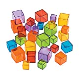 Fun Express Transparent Cube Counters - 90 Pieces - Educational and Learning Activities for Kids