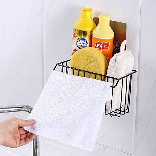 Vroxy Stainless Steel Wall Mounted Hanging Storage Basket Shelf for Bathroom Sink Sponge Holder,...