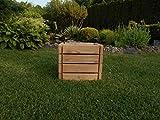 Hochbeet aus Lärche, FSC-zertifiziert aus nachhaltiger europäischer Forstwirtschaft - nutzbar als Pflanzkasten, Kräuterbeet oder Anzuchtbeet - Lieferung vormontiert inkl. Folie (30x36x33 cm)