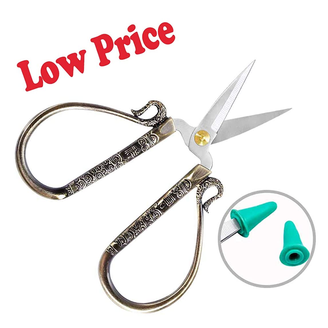 BUTUZE Embroidery Shears- Fashionable 4.72Inch Small Sharp Metal Scissors with Comfortable Grip-Practical Work Supplies for Needlework/Sewing/Art Work/Embroidery/Cutting