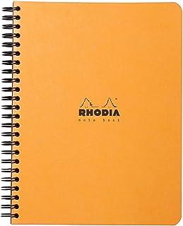 Rhodia 193428C notitieboek (geruit, ideaal voor uw notities, DIN A5, 14,8 x 21 cm, 80 vellen) 1 stuk oranje