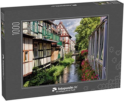 Puzzle 1000 Teile Wohnidylle am Wasser in der Salzwedel, Deutschland - Klassische Puzzle, 1000 / 200 / 2000 Teile, edle Motiv-Schachtel, Fotopuzzle-Kollektion 'Deutschland 2'