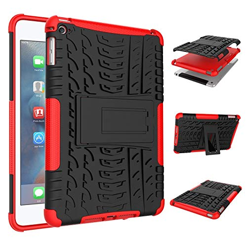 QiuKui Tab Cover For iPad Pro 11 2018, High Duty Armor Case Pencil Case with Stylus Holder Shockproof Silicon Hybrid Cover iPad Pro 11 (Color : Red)