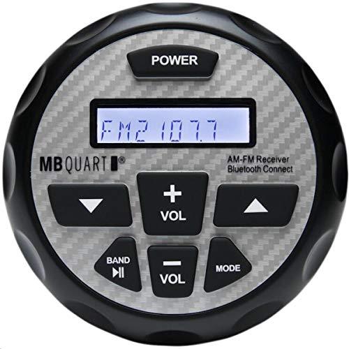 MB QUART GMR-2.5 Marine & Powersports Bluetooth Source Unit (Black) – LCD Screen, Gauge Mount, LCD Back Lighting, 180 Watts, Marine Grade Protection