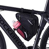 ROCKBROS Bolsa Triangular para Cuadro Tubo Superior de Ciclismo con Bolsillo para Botella de Agua para Bicis MTB Bici de Carretera Unisex