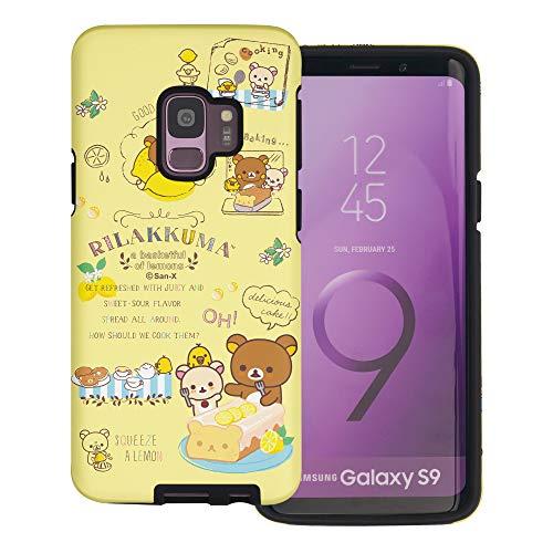 Compatible with Galaxy S9 Case (5.8inch) Rilakkuma Layered Hybrid [TPU + PC] Bumper Cover - Rilakkuma Cooking