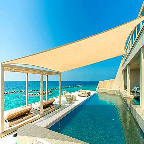 YTBLF Vela de Sombra de jardín - Al Aire Libre Impermeable Rectángulo Refugio de Sol Camping Toldos de Sombra duraderos - Toldo de Playa Piscina Tienda de Sombra de Sol