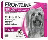 FRONTLINE TRI-ACT Chien - Anti-puces et anti-tiques pour chien - 2-5kg - 6 pipettes