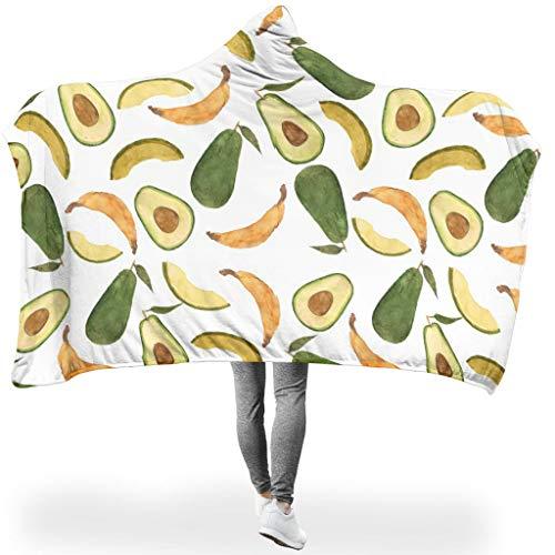 O2ECH-8 - Manta portátil Grande con Capucha, diseño de plátanos de Aguacate...