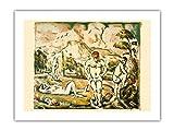 Les bañers – Litografía de Paul Cézanne c.1890 – Papel de bambú con impresión artística 43 x 56 cm