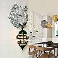 現代の壁取り付け用燭台LEDランプ 居間の創造的なLEDの動物灯の壁ランプの創造的なLED動物ランプ備品の備品のロフト工業用ランプCafeルームバーランプE27 (Lampshade Color : A)