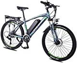 Bici electrica, E-bici bicicleta de montaña bicicleta eléctrica con el sistema de 27 velocidades de transmisión, 350W, 13Ah, 36V de litio-ion, 26' pulgadas, Pedelec City Bike Ligera urbana al aire lib
