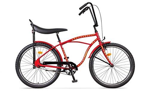 'Ape Rider Urban Cruiser Bicycle–One Size 17Bike Frame–Men' s Comfort Bike Street No.1Edition, roter Diktator