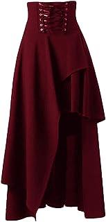 Donne Gotico Steampunk Skirt Vintage Vittoriano Asimmetrico Abilità