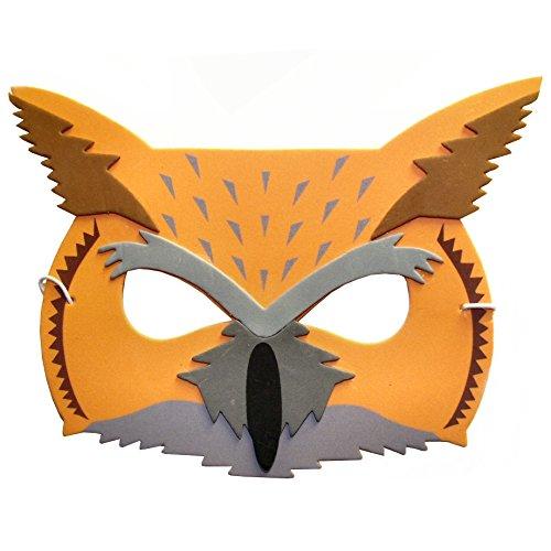 Blue Frog Toys, Eulen-Maske aus Schaumstoff - Kostümmaske