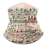 Lustige Musik Cartoon Seaml Gesichtsmaske Bandane Haarband Kopfbedeckung für Staub im Freien...