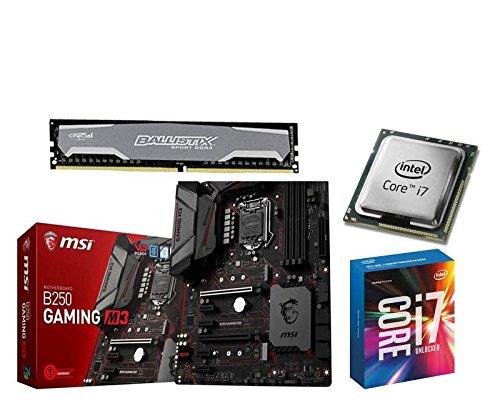 Aufrüstkit MSI B250 Gaming M3+i5-7700+16GB Ballis Desktop PC (Intel Core i7, 16GB RAM, Intel HD Grafik 630) grau