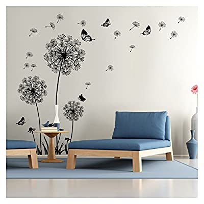 Dandelion Wall Decal - Wall Stickers Dandelion Art Decor- Vinyl Peel and Stick Removable Mural - Vinyl Wall Sticker Flower