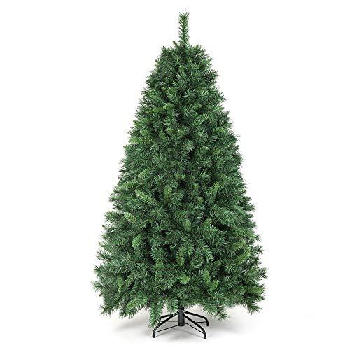 SALCAR Weihnachtsbaum künstlich 180cm mit 580 Spitzen, Tannenbaum künstlich Schnellaufbau inkl. Christbaum-Ständer, Weihnachtsdeko - grün 1,8m