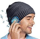 Regalo Hombre 5.0 Gorra Bluetooth - Hombre Regalos Bluetooth Sombrero, Winter Running Music Auriculares Inalámbricos Gorro Tejido, Regalos Amigo Invisible, Regalos Originales para Mujer&Hombre