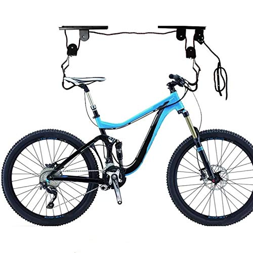 Sistema de polea de elevación de Kayak multifunción Elevador de Bicicleta Soporte de suspensión Gancho Soporte de Techo para Garaje Percha con Cuerda Libre