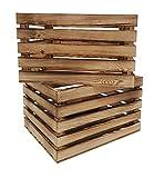 Odolplusz Caja de madera para vino o fruta, 50 x 40 x 30 cm, flameado, 1 unidad
