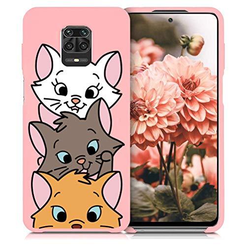 ZhuoFan Cover Xiaomi Redmi Note 9s, Custodia Silicone Rosa TPU Morbido con Disegni Cartoon Pattern Antiurto Bumper Phone Case Protettiva per Xiaomi Redmi Note 9 Pro Max / 9 Pro / 9s, 3 Cat
