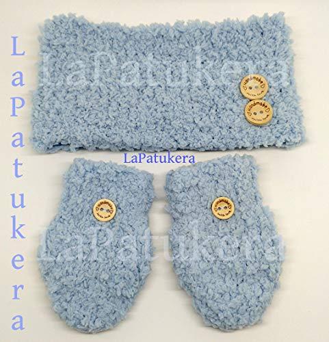 Häkeln Sie Baby Nacken und Handschuhe, Farbe zur Auswahl, Größen von 0 bis 12 Monate, handgefertigt in Spanien. Geschenk für Baby.