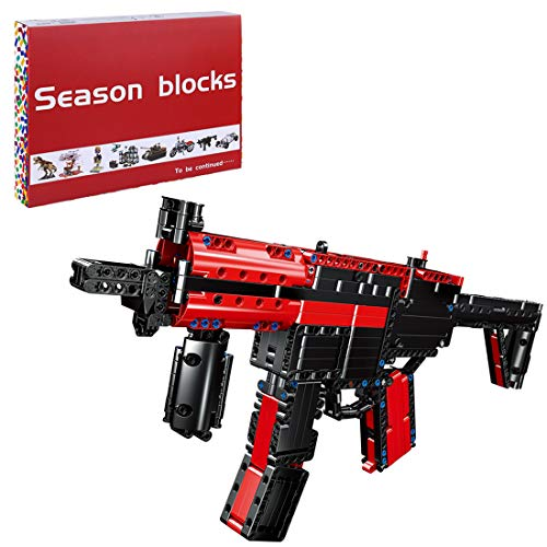 Likecom Technic Submachine Gun Building Blocks, 676 Pieces Mechanical Weapon Blaster Military Building Set, Compatible with Lego
