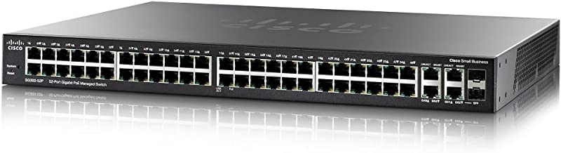 Cisco 300 Series - Switch de Red, Negro