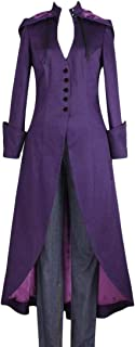 Women's Long Coat Casual Long Sleeve Swallowtail Hoodie Trench Coat