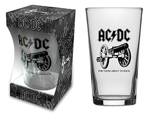 AC/DC BIERGLAS/Beer Glass for Those About to Rock - Pint 570 ml