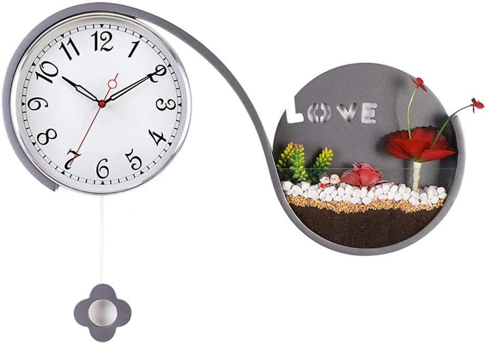 Wall Clock Battery Operated Pendulum Living Max 55% OFF Decor online shop Bed Room