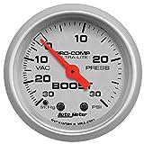 Auto Meter 4303 Ultra-Lite Mechanical Boost/Vacuum Gauge, 2.3125 in.