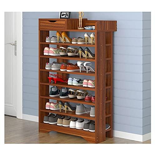 FOLA Zapatero Gran Capacidad 8 Niveles Zapatillas Moderno Zapato Simple gabinete de Zapatos de Madera de Almacenamiento de Zapatos Organizador Montaje de Montaje de Entrada Sala de Estar Zapatera
