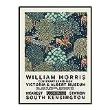 Póster vintage de William Morris, impresión de arte de pared nórdico en el Victoria and Albert Museum, lienzo sin marco A1 15x20cm
