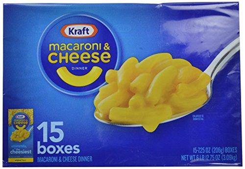 Kraft Macaroni & Cheese Dinner, Original, 7.25 oz, 15 Pack