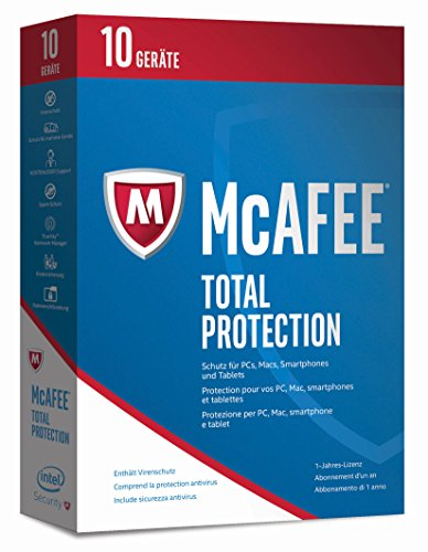 McAfee Total Protection | 2017 Version | 10 Geräte | 1 Jahr | PC/Mac/Smartphone/Tablet | Download