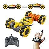 3 Control Ways Stunt Twist Car - Remote control, gravity sensor watch control,and gesture somatosensory control (without any thing but you hand). controlling a toy car is as easy as waving to it with your palm. Easy Hand Motion Controls - Good size r...