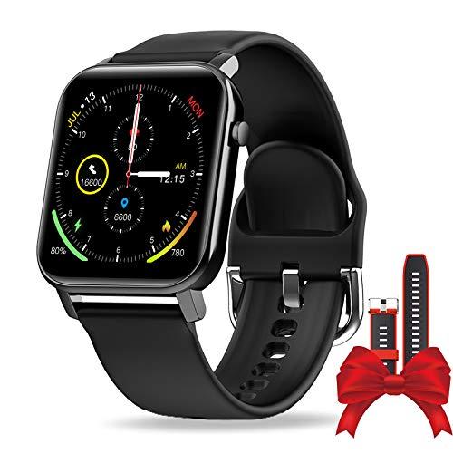 Smartwatch, IP68 Impermeabile Orologio Fitness Uomo Donna, Fitness Tracker Con Cinturino Sostituibile, 1,4 Pollici Schermo Tattile Completo,per Cardiofrequenzimetro da Polso Calorie Activity Tracker