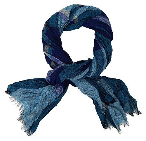 Ella Jonte Écharpes foulard d'homme élégant et tendance de la dernière collection by Casual-style bleu turquoise