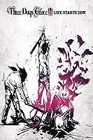 スリーデイズグレイス-カナディアンロックバンドグラウンドスウェル音楽ポスターと版画アートポスターキャンバス絵画家の装飾キャンバス壁アート50x75cmフレームなし