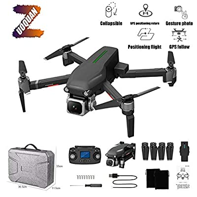 ZUOQUAN GPS 4K Drone, Anti-Shake HD Aerial Brushless Folding Remote Control RC Quadcopter, Auto Return Home, Wifi Distance 600M, Remote Control Distance 1000M, Remote Control Height 120M,C
