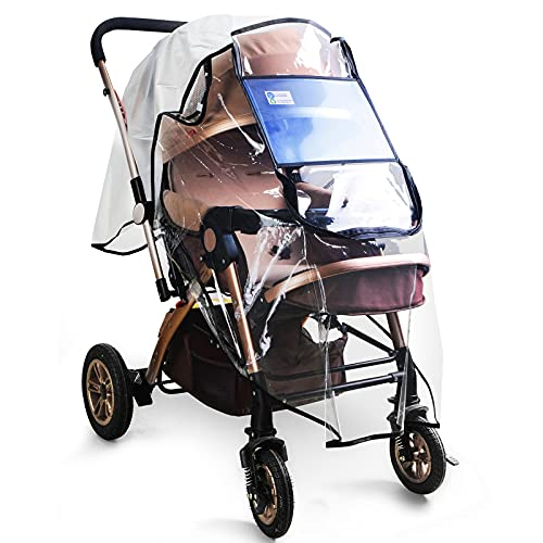 Stroller Rain Cover, Rain Shield for Stroller Rain Cover Universal, Stroller Shield with Windproof Waterproof, Protect from Dust Snow, Baby Stroller Cover for Outdoor.
