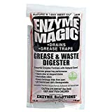 Enzyme Magic Grease & Waste Digester Cleans Slow/Clogged Drains, Urinals, Commodes, Beverage Towers, Grease Traps; Enzyme Formula Destroys Waste, Fat, Oil, Grease; Neutralizes Odors (4 Oz x 32-Pack)