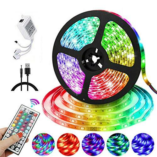 LED Strip RGB LED Licht Streifen RGB Streifen Fernbedienung stripes Lichtband Leiste Beleuchtung Flexibel LED Band mit Farbwechsel, Lichtleiste für die Beleuchtung von Party Dekorative (10m)