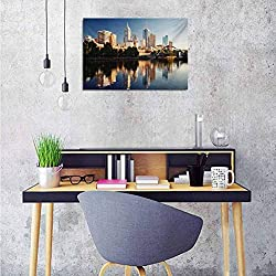 City Wall Decor Stickers Idyllic View of Yarra River Melbourne Australia Architecture Tourism Office Poster 36x24 Inch